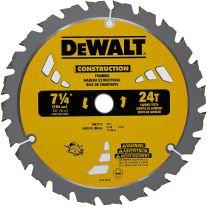 """Dewalt DW3578B10 Disco de sierra con dientes de 7-1/4"""" x 24 con punta de carburo para estructuras"""