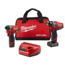 Milwaukee 2598-22 Kit combinado de 2 herramientas rotomartillo y destornillador de impacto M12 FUEL