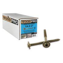 """WoodPro Fasteners ST14X2B 1/4"""" x 2"""" Tornillos granel Lavadora Starhead (250 / Pack)"""