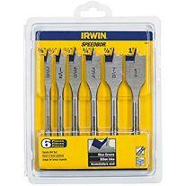 Irwin 1856841 Diámetro de velocidad de bits de Blue Groove madera Set (6 piezas)