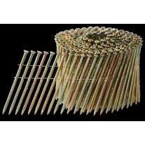"""Ballistic NailScrews WCNS214113YZSP 2-1 / 4"""" x 0,113 clavo de 15 grados de madera redonda del interior de la bobina de alambre Cabeza"""