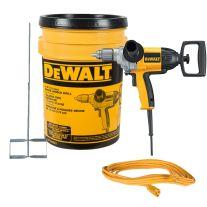 """Dewalt DW130VBKT Kit de mezcla de taladro de mango de espada de 1/2"""" 9 A"""