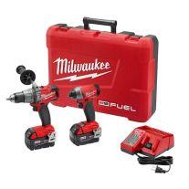 Milwaukee 2897-22 Kit combinado FUEL de 2 herramientas rotomartillo/destornillador inalámbricos M18 de 18 Voltios  (5 Ah)