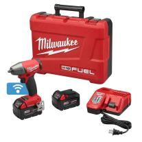"Milwaukee 2758-22 Llave de impacto compacto M18 FUEL de 3/8"" con anillo de fricción con kit ONE-KEY"