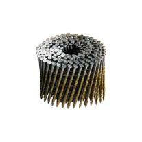 """Magnum Fasteners 6541 Rollo de clavo 2"""" x 0.099 brillante de cabeza redonda electrosoldado a 15 grados para tarimas"""